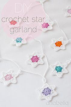 Ravelry: Six-pointed stars Christmas garland - free pattern by Anabelia Handmade