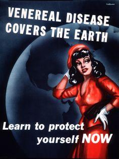 Public health poster (1940). Don't you just LOVE vintage public health messages?