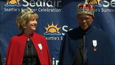 This year's Seafair Queen Alcyone, former King County Sheriff' Sue Rahr King Neptune, former Sonic basketball player Slick Watts are crowned.