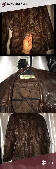 Vintage Leather Jacket made in Argentina.. Classic This beauty was purchased in Argentina 19yrs ago EXCELLENT Condition! Made for men that has a appreciation of timeless fashion and authenticity. Not for every man; this is a collectors item.. private label Jackets & Coats Lightweight & Shirt Jackets
