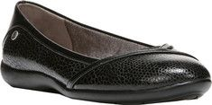 Life Stride Ladylike Ballet Flat - Black Synthetic with FREE Shipping & Exchanges. Ladylike is a simple but stylish casual ballet flat with front wrap detail