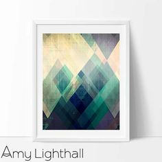 modern mid century Graphic art neutral colors by AmyLighthall