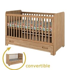 2 in 1 Convertible Cot Bed