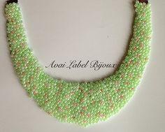 Neon handmade statement necklace