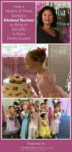 How A Mother Of 3 Started Weekend Business To Bring In 20 000 Extra Family Income Princess Tea Party