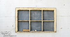 Antique Window Chalkboard - Farmhouse 6-Pane Window - 38 x 23