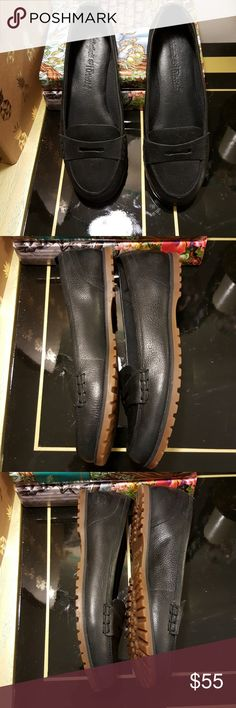 Timberland leather penny loafers Awesome condition. Litte bit of scuffing in the. Not that noticable. Timberland Shoes Flats & Loafers