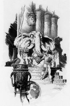 Mark Schultz, Illustration for The Tower of the Elephant by Robert E. Howard, Complete Conan of Cimmeria, Volume Wandering Star Comic Book Artists, Comic Artist, Comic Books Art, Ink Illustrations, Illustration Art, Conan O Barbaro, Fantasy, Conan Comics, Conan The Barbarian
