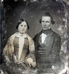 Here is a fabulous photo collection of 'husband & wife' portraits from between the 1840s and 1850s. Look at their clothing, jewelries, as we...