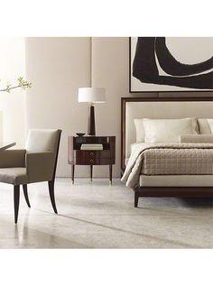 quadro enorme em cima da cabeceira da cama ! Thomas Pheasant for Baker Furniture.