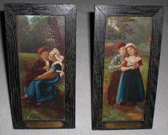 Alte Malerei, Öl auf Platte