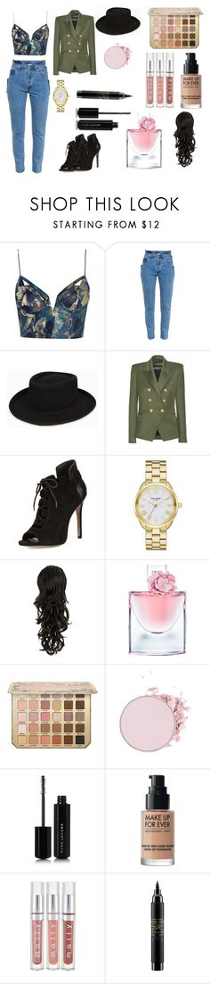 """Untitled #451"" by patricia-correia1990 on Polyvore featuring Zimmermann, Vetements, Balmain, Pour La Victoire, Kate Spade, Lancôme, Marc Jacobs, MAKE UP FOR EVER and MAC Cosmetics"