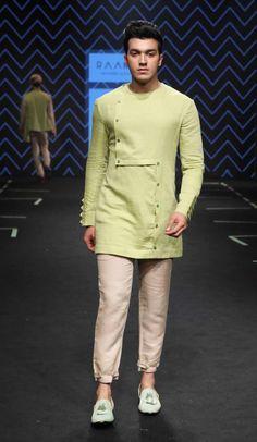 Chandrika Raamz and Raamz - Lakme Fashion Week - SR 17 - 7 Mens Indian Wear, Indian Groom Wear, Indian Men Fashion, Mens Fashion Wear, Stylish Mens Fashion, Man Fashion, Fashion Ideas, Fashion Inspiration, Wedding Kurta For Men