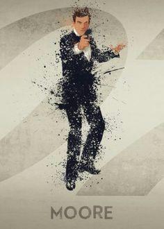007 James Bond poster prints by PopCulArt James Bond Actors, James Bond Movie Posters, James Bond Movies, 007 Casino Royale, George Lazenby, Bond Series, Splatter Art, Timothy Dalton, Star Wars