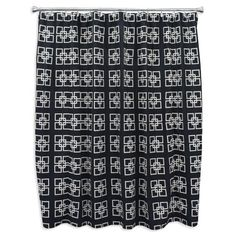 Brite Ideas Living Squares Black Shower Curtain 72Inch By 72Inch  Multicolored ** Visit The Image