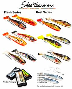 The most awesome rubber baits from Swedish brand Svartzonker is coming Spring-2018! Almost too beautiful to get wet!