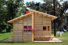 Come fare un casa con i pallet: il progetto Pallet House Una casa fatta di pallet per rifugiati? In un anno, solo negli Stati Uniti vengono gettati così ta