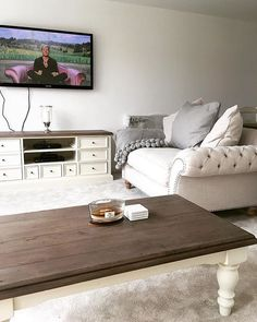 """216 Likes, 3 Comments - Barker And Stonehouse (@barkerandstonehouse) on Instagram: """"This lovely room belongs to @newbuild_homex  and features our comfy Craven loveseat along with TV…"""""""