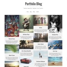 Portfolio Blog another beautiful work of a Template Trackers. It's portfolio style blogger template, which is ideal for photography blogs, personal blogs