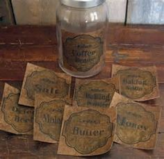 Proper labels! These fantastic primitive looking craft labels can be ...