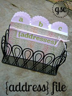 address file box using it kit (tab it) & parade alphabet die #lifestylecrafts