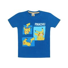 Jazzup Pokemon Blue T-Shirt For Boys