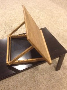 Table top drafting table: Made this for my desk at work.  Simple but effective.