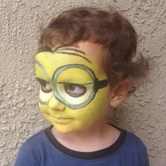 Day 12: Minion #Themanyfacesofharry  #minion #theminionmovie #minionmovie #minionface #minionfacepaint #facepaint #face #paint #Halloween #yellow #minions #minionsmovie #despicableme #wetakerequests