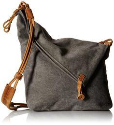 Tom Clovers Women's Men's Canvas Crossbody Messenger Shouder Handbag Tote Weekender Bag Grey Upgrade: Handbags: Amazon.com