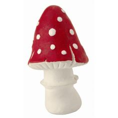 Kathe Kruse 'Lucky Polka' Natural Latex Toadstool Squeaky Toy (Pointy) SALE! WS £9