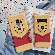 Winnie Pooh Samsung + plus Bear phone case edge + cartoon BEAR soft shell Note 8 / 9 silica gel cover Cell Phone Plans, Cell Phone Cases, Iphone Cases, Phone Wallet, New Mobile Phones, New Phones, Silica Gel, Samsung Galaxy 10, Galaxy S8