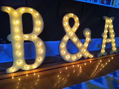 "Ben & Amy :) And the font matches our invitations. Might have to buy these.  16"" Big Vintage Style Marquee Letters Wood...........       A B C D E F G H I J K L M N O P Q R S T U V W X Y Z"