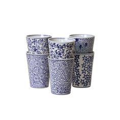 Blue Skye Cups, Set of 6