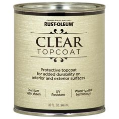 Rust-Oleum American Accents Clear Gloss Metallic Latex Interior Paint (Actual…
