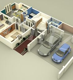 floor plan 3d model render