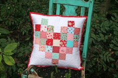 lovely little handmades: easy patchwork heart pillow & tutorial