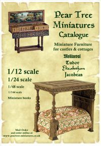 Pear Tree miniatures, wonderful medieval furniture in different scales