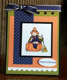 Halloween Card--Wish this stamp set was still available!
