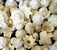 Esculturas de papel de Jun Mitani