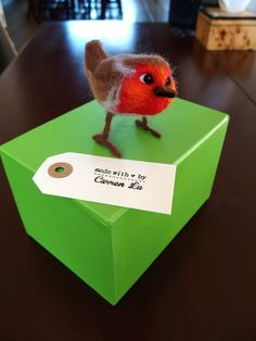 A little Robin needle felted for someone special, hand made by Carren Lu