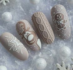 What Christmas manicure to choose for a festive mood - My Nails Xmas Nail Art, Cute Christmas Nails, Xmas Nails, Christmas Nail Designs, Holiday Nails, Halloween Nails, Christmas Manicure, Winter Nail Designs, Fall Nail Art