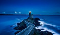 Plouzane, Francia, Faro, Hito, Mar