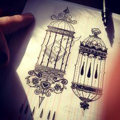 «Cage tattoo sketch. #CAGE #CAGETATTOO #TATTOO #TATTOOFLASH #SKETCH #INK #BLACKWORK #LINEWORK #OUTLINES»