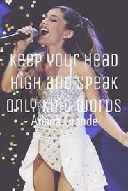 The quote u gatta know if u love Ariana