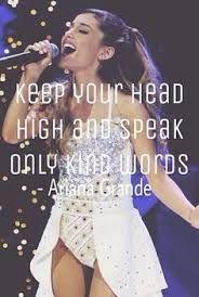 The quote u gatta know if u love Ariana