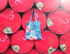 Handmade tote bag  Material #recyclejeans Designed by #7s8estudio