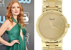 Jessica Chastain's character in Molly's Game wears a Piaget watch