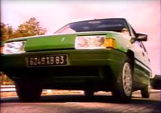"""from """"Citroën BX Prototype, La conception, étude CAO, maquettes, essais, crash test """" old documentary made by Citroën showing early BX in vert tuilerie."""