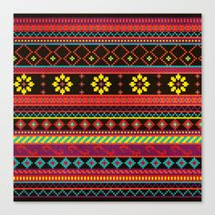 Buy Geometric Summer Pattern by Noonday Design as a high quality Canvas Print. Worldwide shipping available at Society6.com. Just one of millions of…