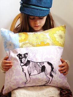 @Ann T Jaunty Jack screen printed cushion Square by MrsBertimus on Etsy, £25.00